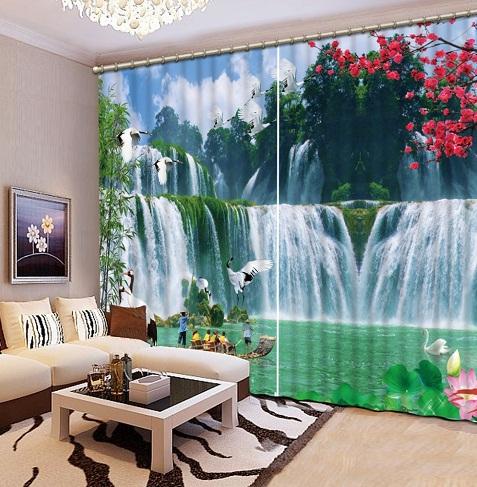 Landscape Curtain Cloth Style