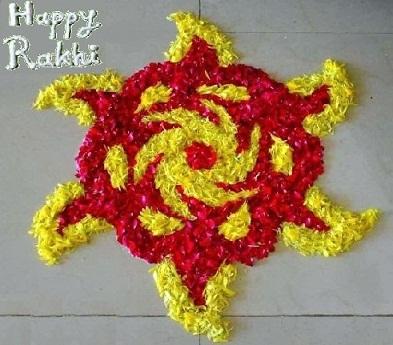 Marigold Flower Design on Raksha bandhan