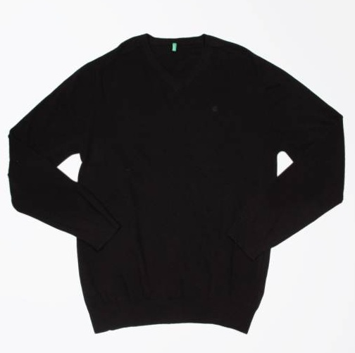 Men Solid Black Sweater