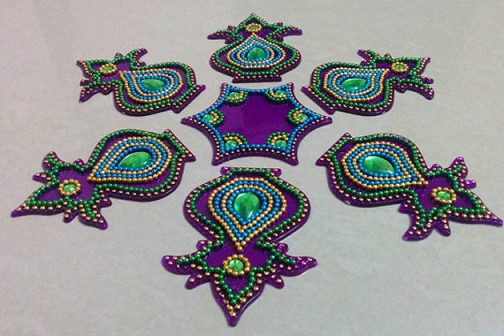 Mesmerizing Rangoli Design for Diwali