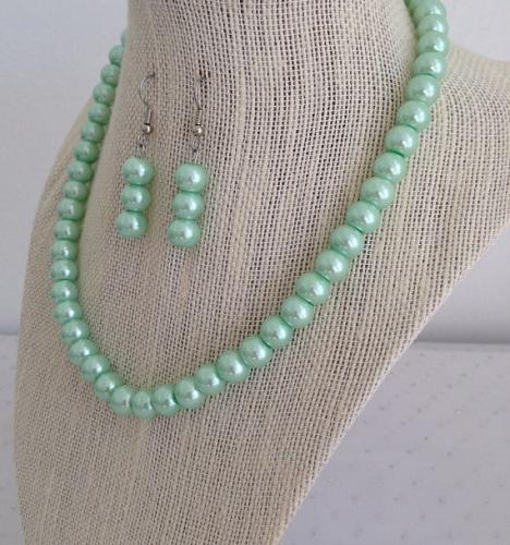Mint Sea Foam Green Jewelry Set
