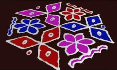 13 Dots Rangoli Designs