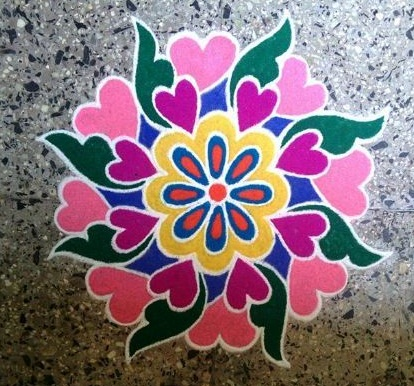 9 Different Oil Paint Rangoli Designs With Images Styles At Life