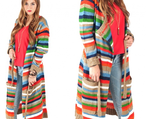 Multicolor Long Sweater