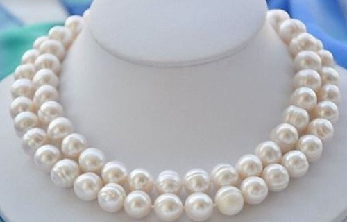 Natural White Baroque Keshi Pearls