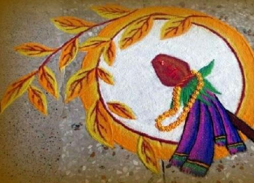 Gudi Padwa Rangoli Designs 4