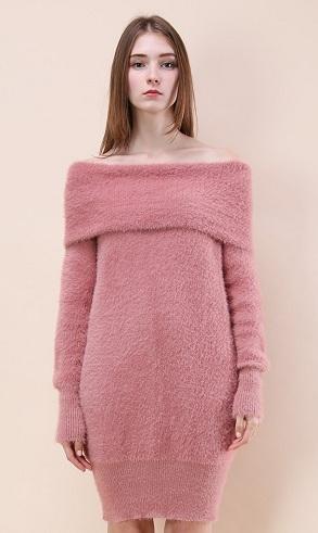 Off The Shoulder Sweater Dress