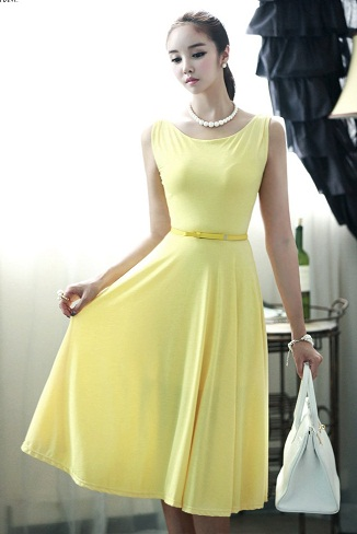 15 Stylish Yellow Dress Designs For Women With Latest