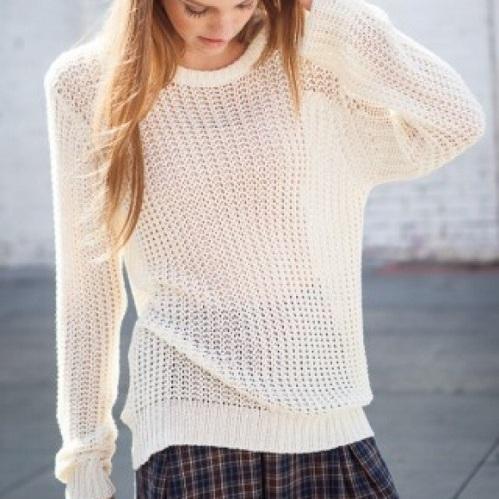 Open Knit Women's Sweater