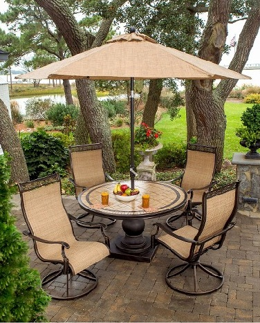 Outdoor Small Patio Set Table Umbrellas