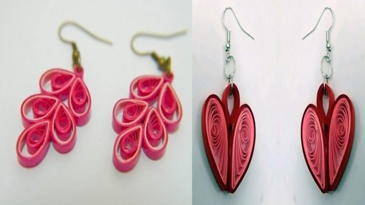 15 Simple And Latest Paper Quilling Earrings Designs