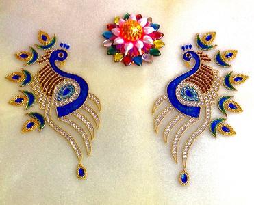 Peacock Acrylic Rangoli