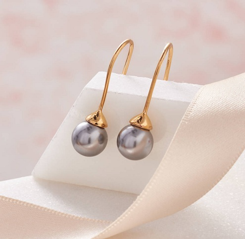 Pearl Drop Gold Earring