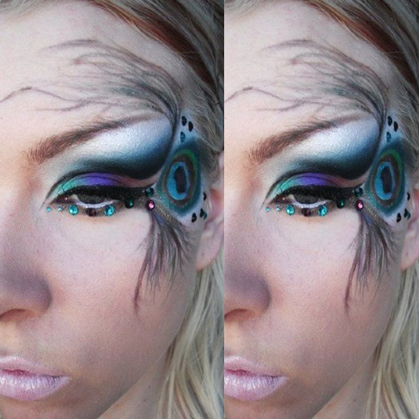 Peacock Eye Makeup Look