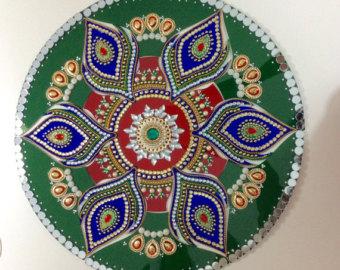 Petal-Shaped Acrylic Rangoli