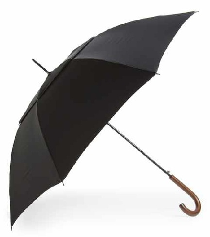 Plain Black Classic Designer Umbrella