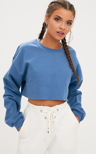 Plain Cropped Sweater