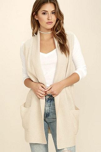 Pocket Sleeveless Sweater