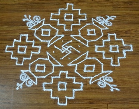 Pot 12 Dot Rangoli