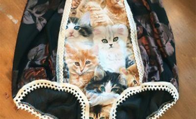 Printed granny panties