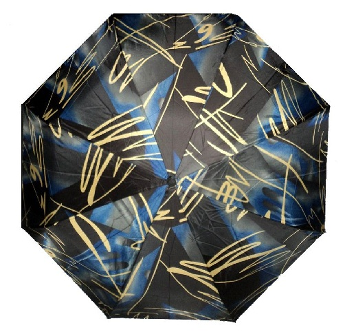 Printed Polyester Blue Umbrellas