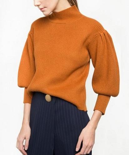 Puffed Sleeve Women's Sweater