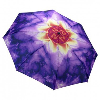 Purple Printed Folding Umbrellas