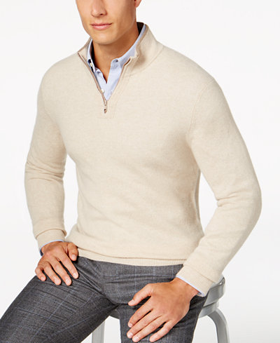 Quarter Zip Cashmere Sweater