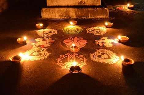 Rangoli Design for Night