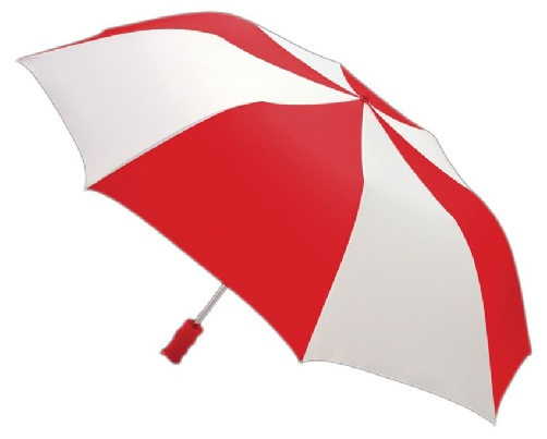 Red and White Umbrellas