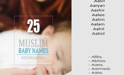 25 Religious Muslim Baby Names For Girls Amp Boys In India
