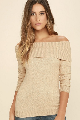 Rolled off The Shoulder Sweater