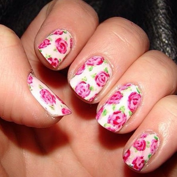 Best Rose Nail Art Designs