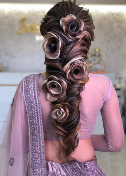 Rose Floral Hairstyle