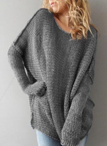 Round Neck Pullover Sweater