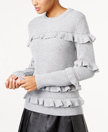 Ruffled Women's Sweater