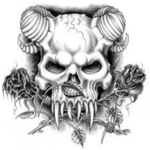 Scary Demon Tattoo Designs for Men