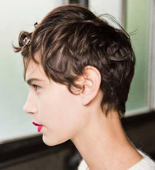 Short Messy Pixie Cut Wavy Hair