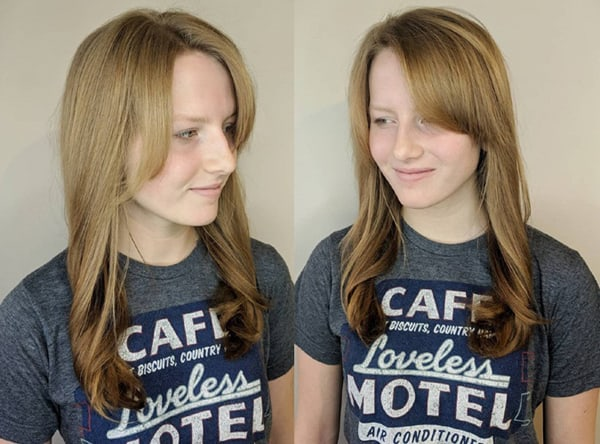 Side-Swept Blonde Hairstyle