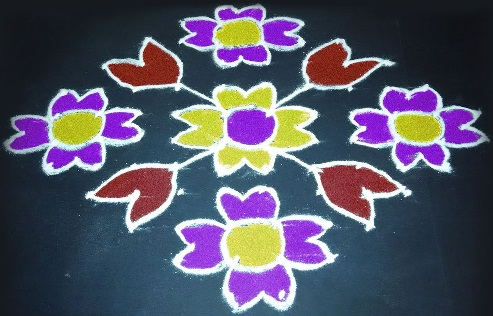 Simple 12 Dot Rangoli