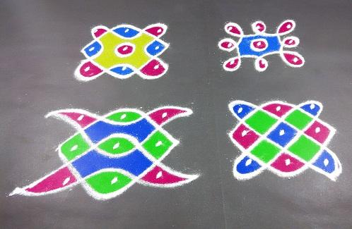 3 Dots Rangoli