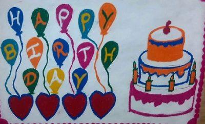 Birthday Rangoli Designs