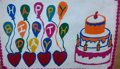 Simple Kolam Birthday Rangoli