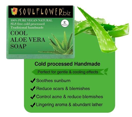 Soulflower Cool Aloe Vera Handmade Soap