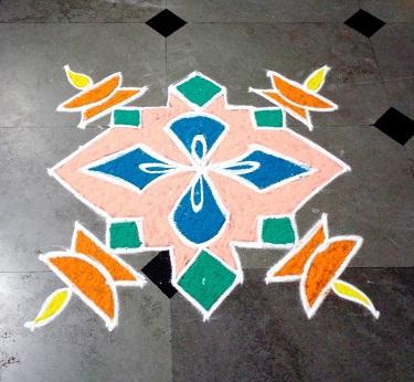 Special 11 Dots Rangoli