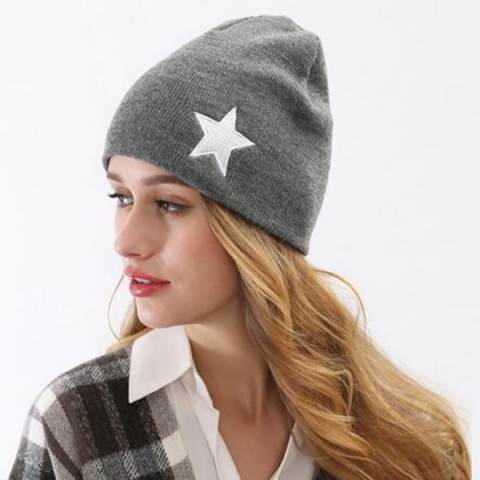 Star Embroidered Beanie Hats