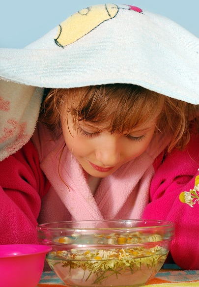 Steam Remedy for Cold in Kids