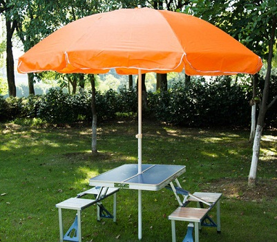 Steel Frame Outside Table Umbrellas