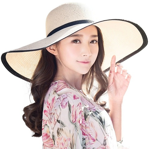 Straw Panama Foldable Beach Hats