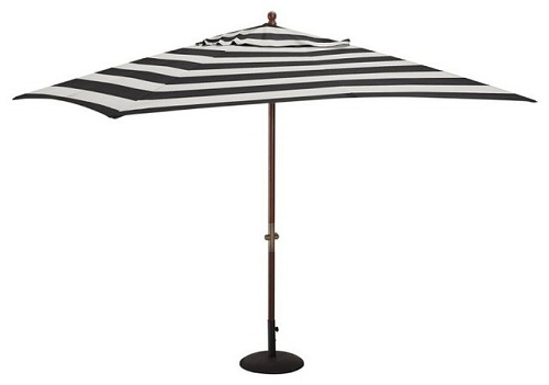 Striped Pattern Garden Umbrellas
